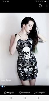 dress,black dress,skull dress