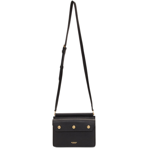 Burberry Black Leather Baby Title Bag