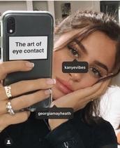 phone cover,clear,black,white,art of eye contact,eye,eye contact,art phone case