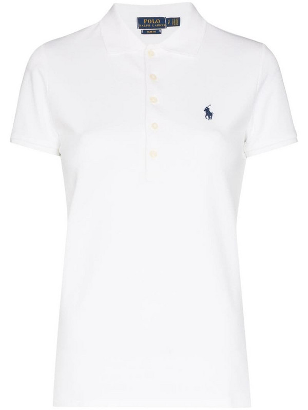 Polo Ralph Lauren Polo Pony embroidered polo top in white