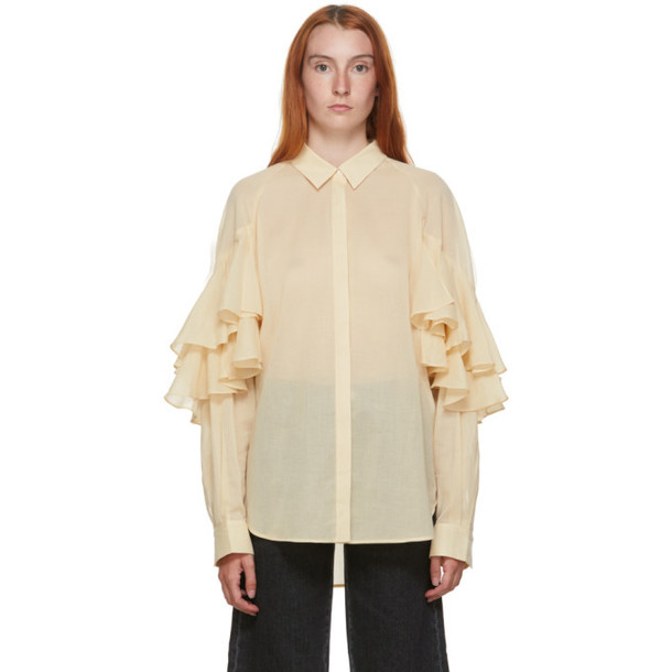 Toteme Beige Locarno Shirt in ivory