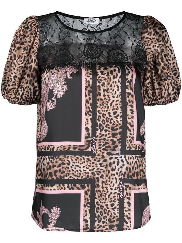 LIU JO leopard-print T-shirt in neutrals