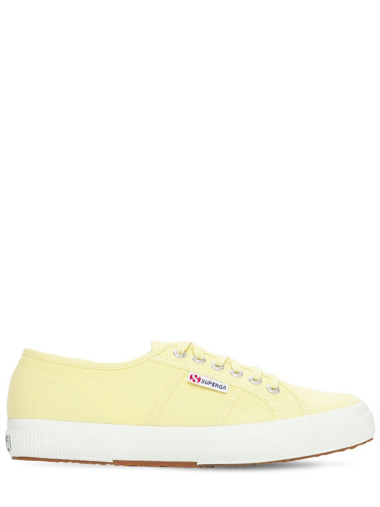 SUPERGA Logo Canvas Sneakers in yellow