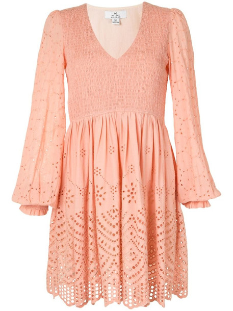 We Are Kindred broderie anglaise shirred dress in orange
