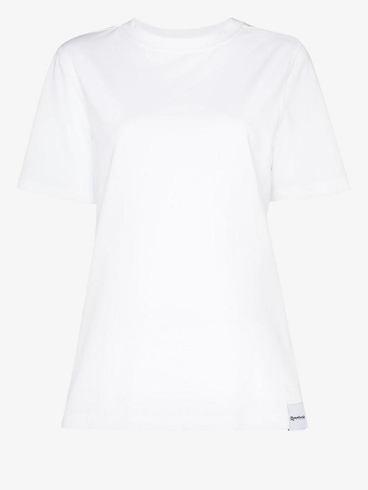 Reebok X Victoria Beckham logo back cotton T-shirt in white