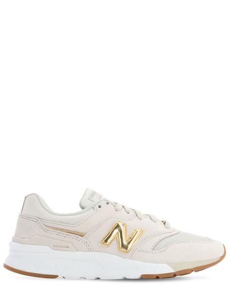 NEW BALANCE 997 Suede & Mesh Sneakers in grey