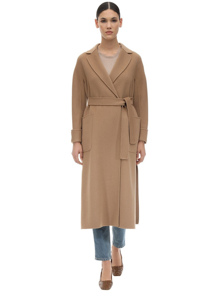 MAX MARA 'S Belted Long Wool Coat in camel