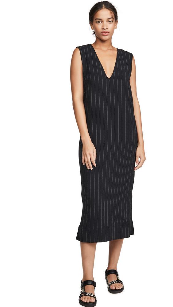 GANNI Heavy Crepe Dress in black