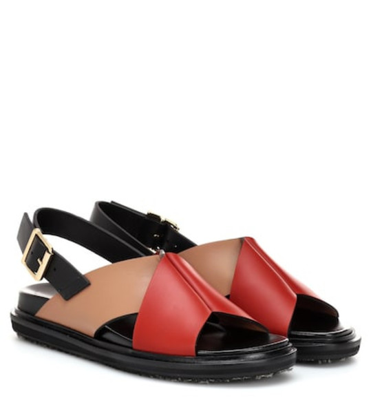 Marni Leather sandals in red