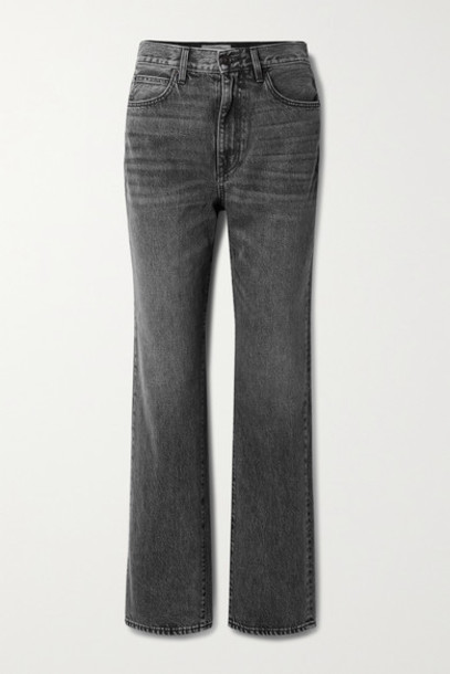 SLVRLAKE - London High-rise Straight-leg Jeans - Anthracite