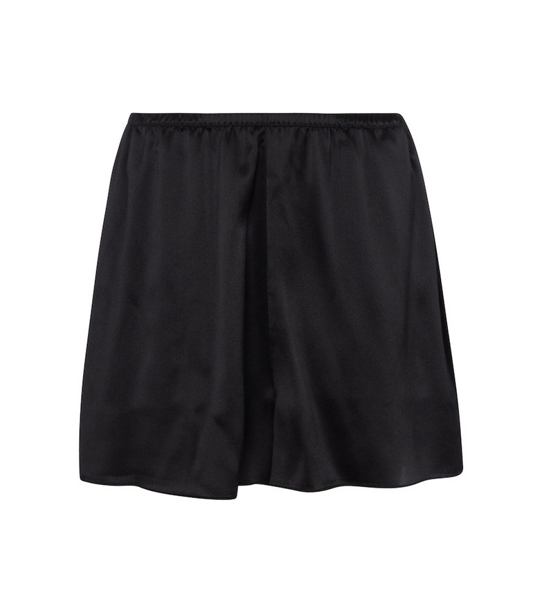 Vince Silk satin shorts in black