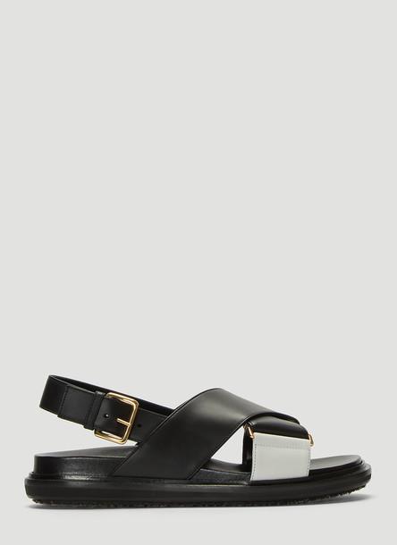 Marni Fussbett Sandals in Black size EU - 38.5