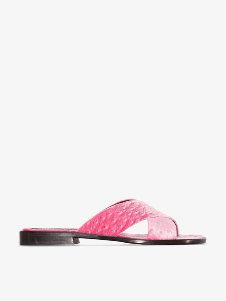 Sies Marjan pink Cassie 20 velvet sandals