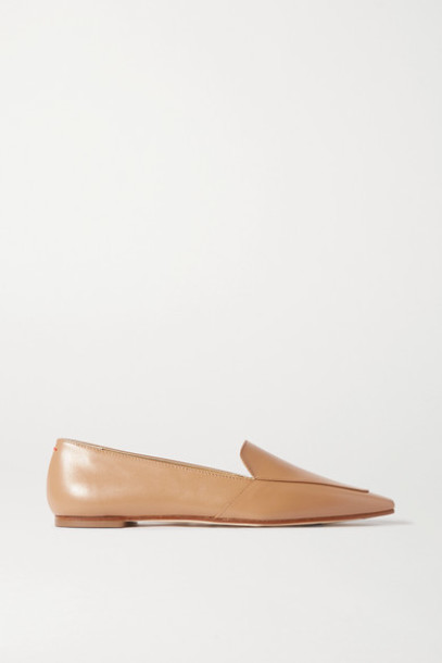 aeyde - Aurora Leather Loafers - Tan