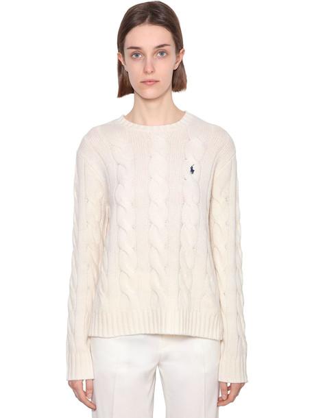POLO RALPH LAUREN Julianna Merino Wool & Cashmere Sweater in cream
