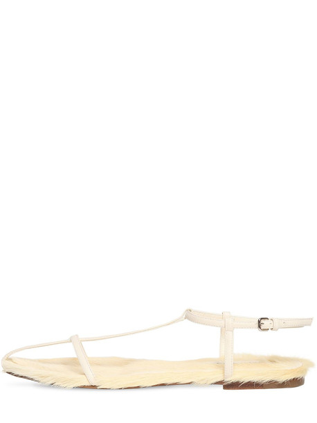 JIL SANDER 10mm Leather Sandals in yellow