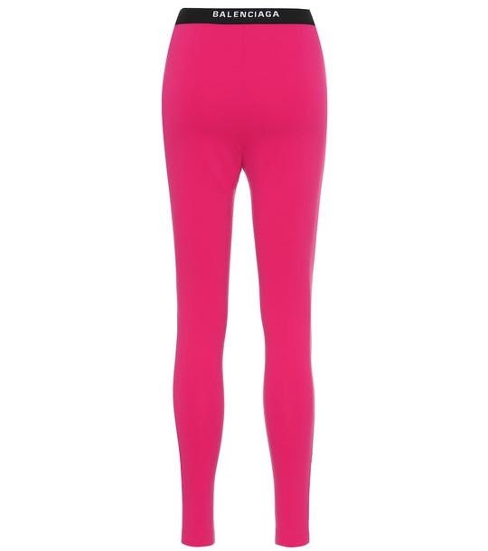 Balenciaga Logo leggings in pink