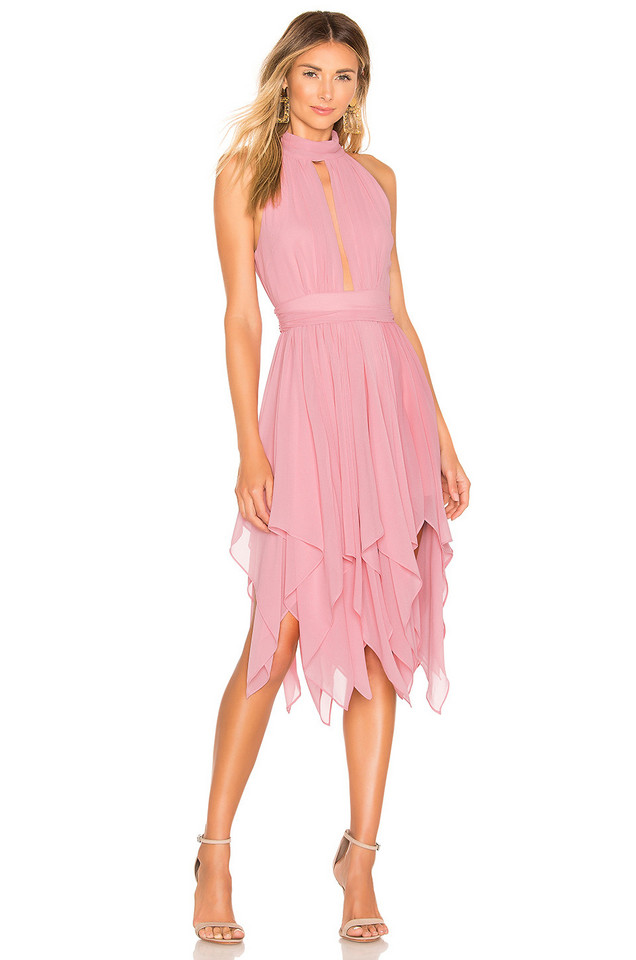 Michael Costello x REVOLVE Andrea Dress in pink