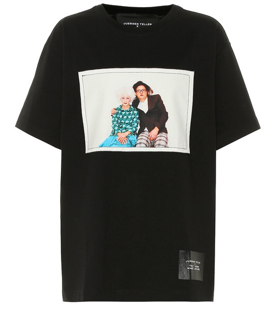 Marc Jacobs Printed cotton T-shirt in black