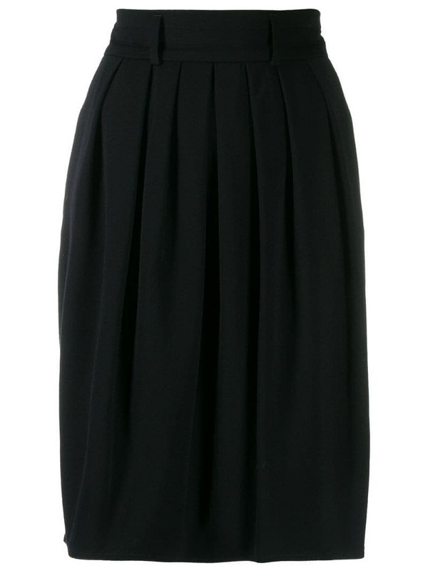 Jil Sander Pre-Owned '1990s pleated skirt in black
