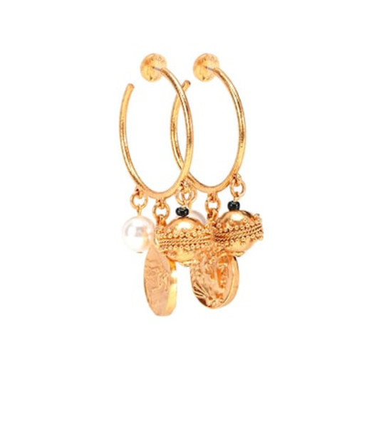 Oscar de la Renta Charm hoop earrings in gold