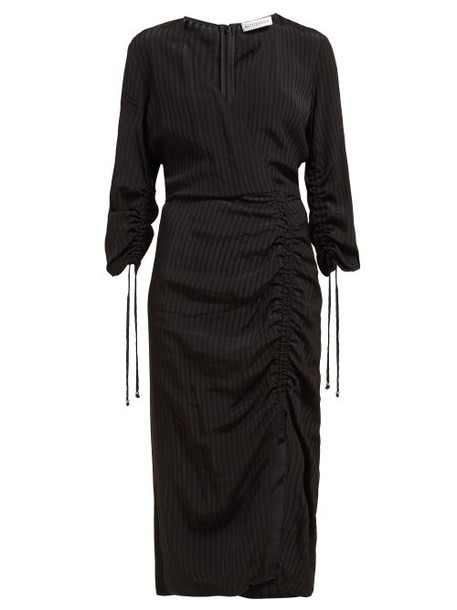 Altuzarra - Orianna Striped Gathered Seersucker Dress - Womens - Black