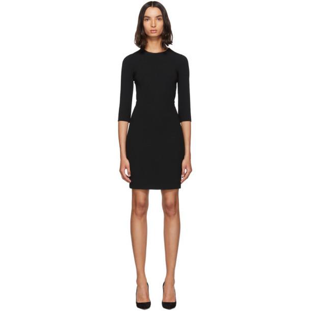 Dolce and Gabbana Black Three-Quarter Sleeve Mini Dress