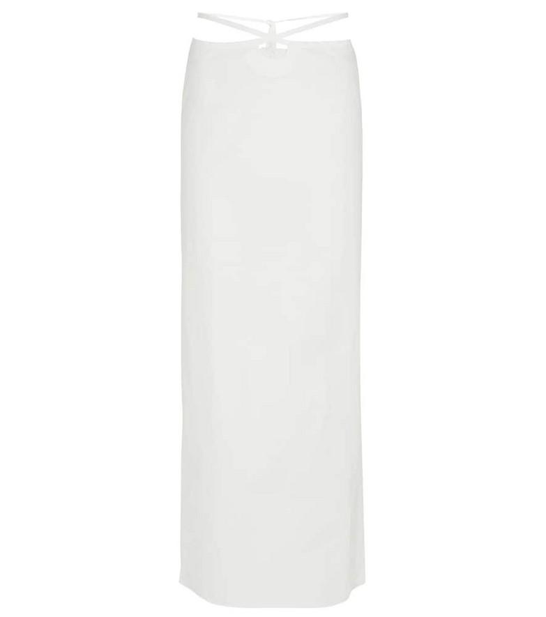 CHRISTOPHER ESBER Nylon-blend midi skirt in white