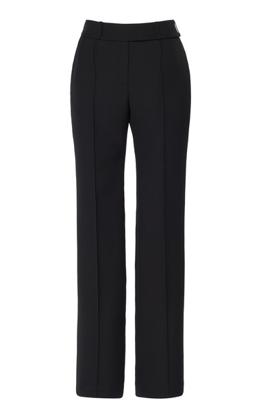 Alexandre Vauthier Wool High-Rise Straight-Leg Pants Size: 34 in black