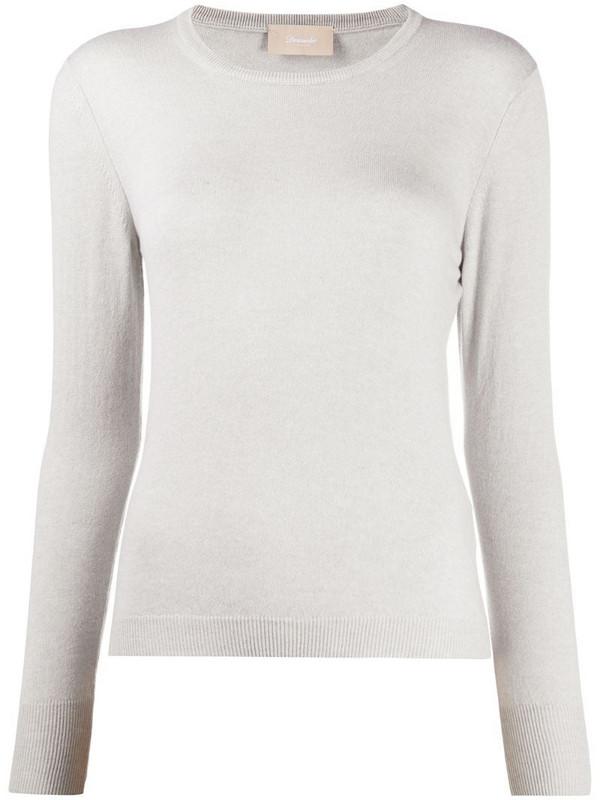 Drumohr fine knit cashmere jumper in grey