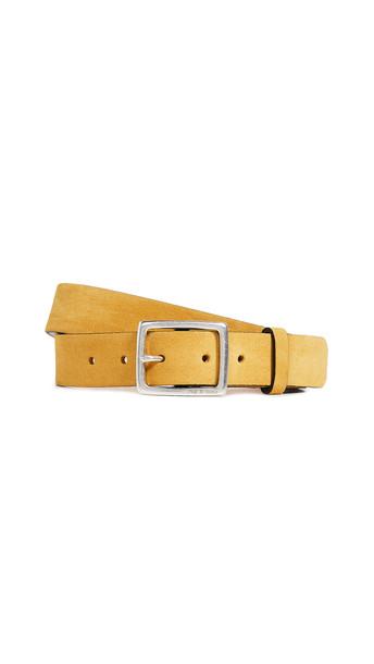 Rag & Bone Boyfriend Belt in mustard