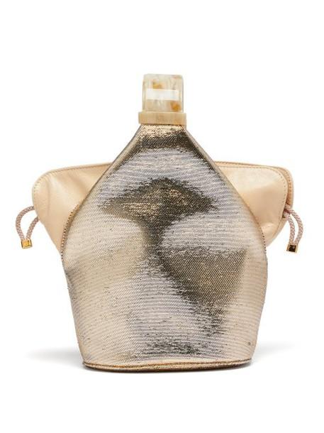Bienen-davis - Kit Metallic Canvas Clutch - Womens - Gold