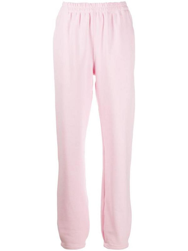 Styland straight leg sweatpants in pink
