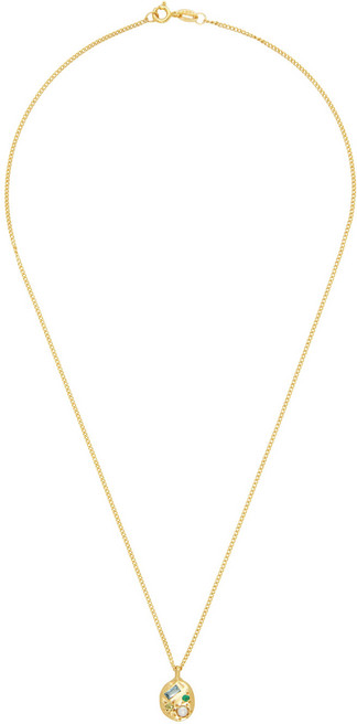 Seb Brown Gold Neapolitan Necklace in silver