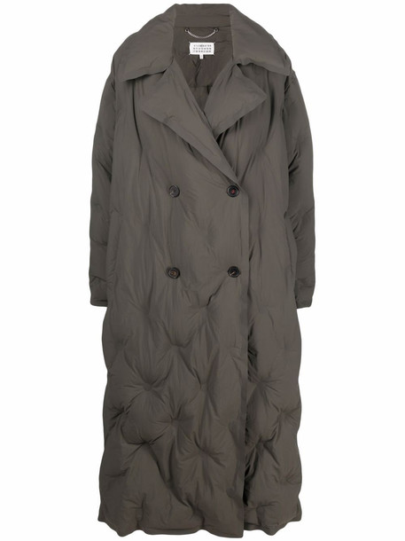 Maison Margiela double-breasted quilted coat - Green
