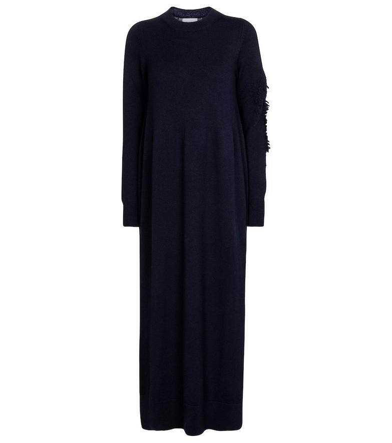 Barrie Cashmere maxi dress in blue