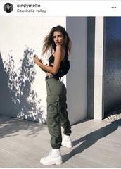 pants,army green,coachella