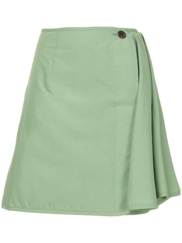 Aalto straight mini skirt in green