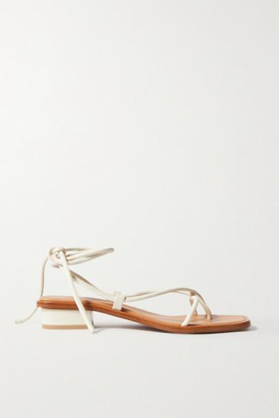 LOQ - Ara Leather Sandals - Cream