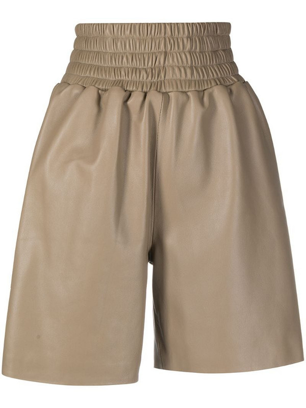 Manokhi leather shorts in neutrals