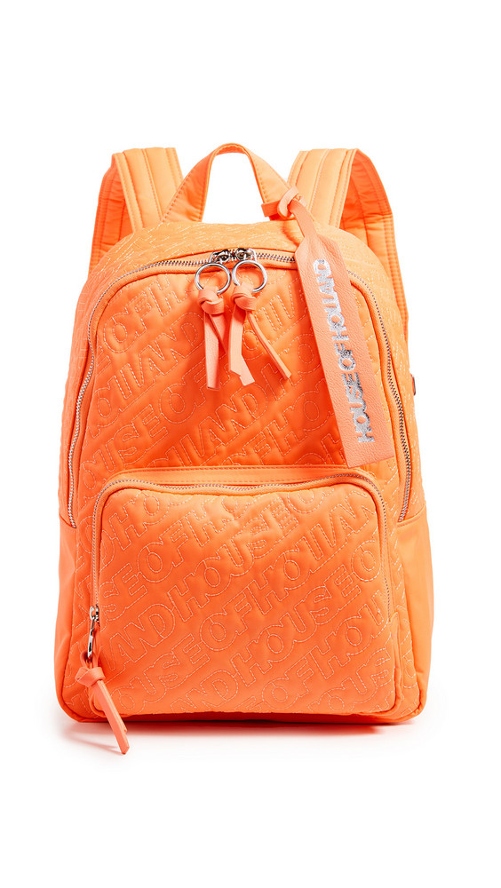 House of Holland Embroidered Backpack in orange