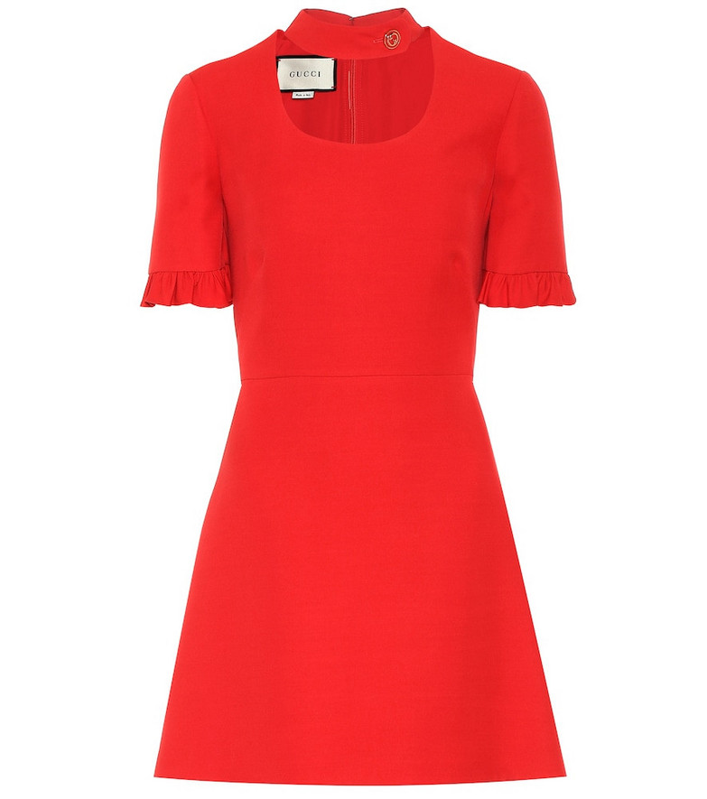 Gucci Silk and wool minidress in red