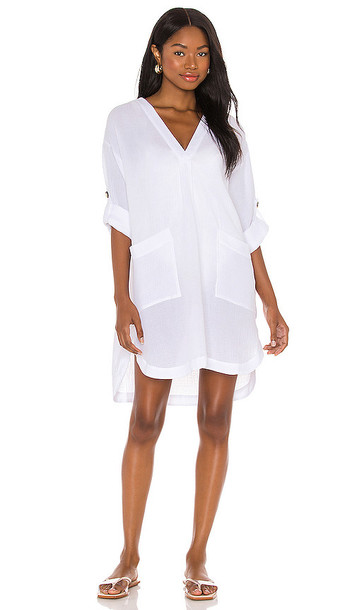 Seafolly Essential Cover Up Dress in White