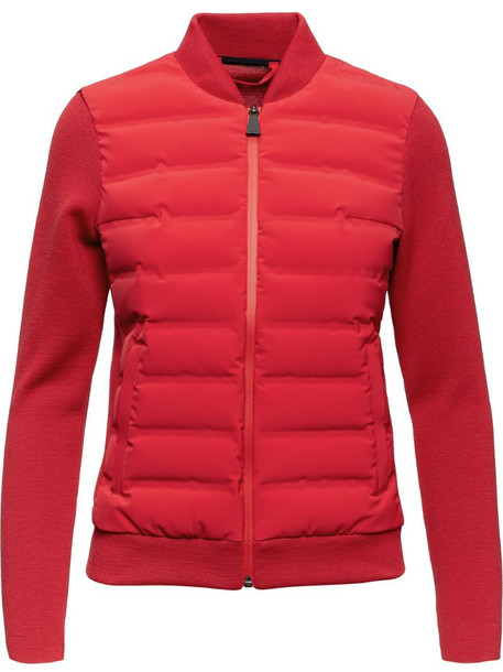 Aztech Mountain Dale of Aspen panelled knitted jacket in red