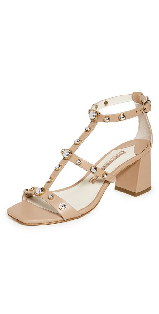 Sophia Webster Dina Stud Mid Sandals in silver