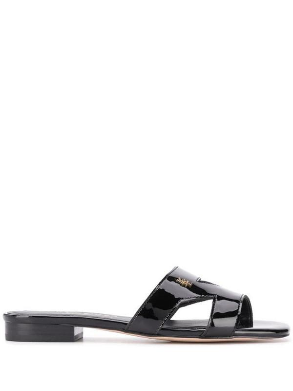 Kurt Geiger London Odina low heel sandals in black