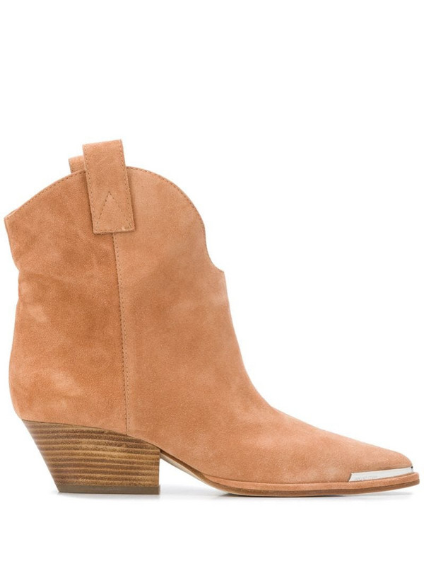 Sergio Rossi Western ankle boots in neutrals