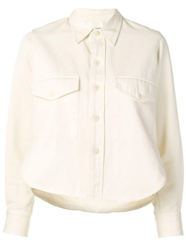 AMI Paris Shirt With Buttoned Chest Pocket in white