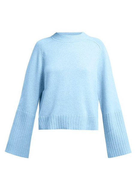Allude - Cashmere Sweater - Womens - Light Blue