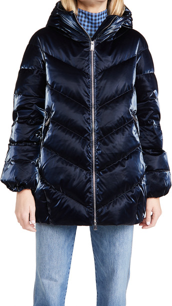 Add Down Hooded Jacket in midnight